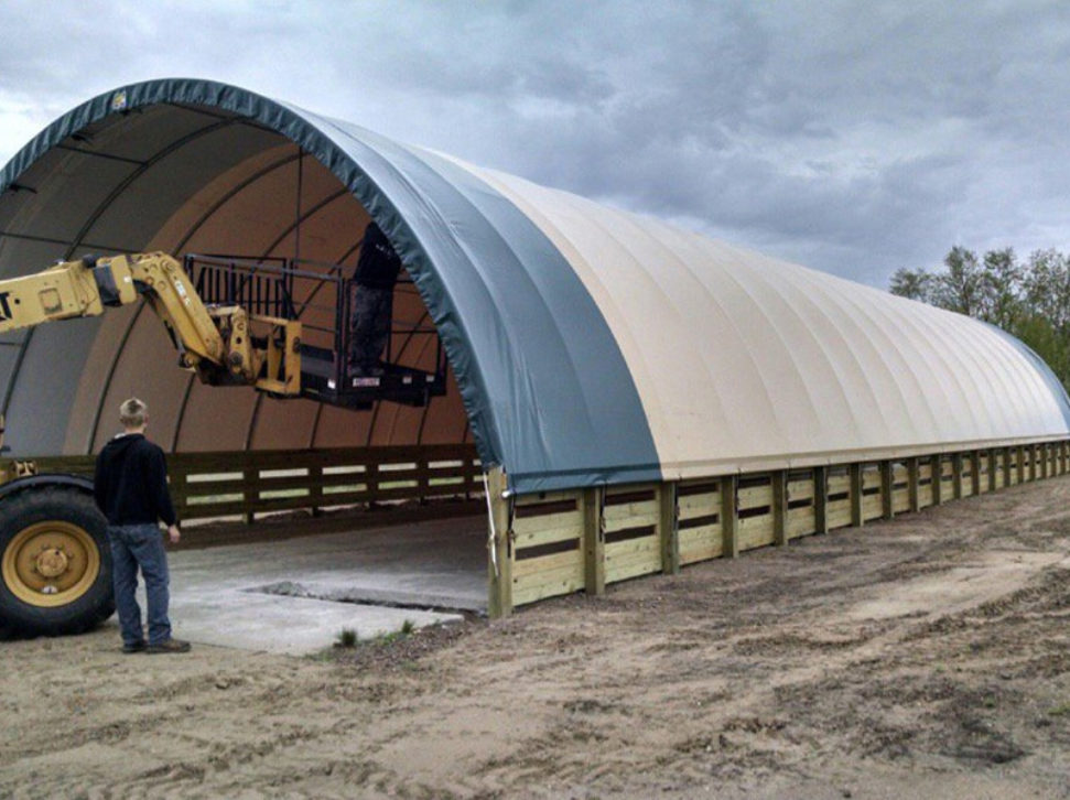 100 ft Long Hay Storage Building Shed