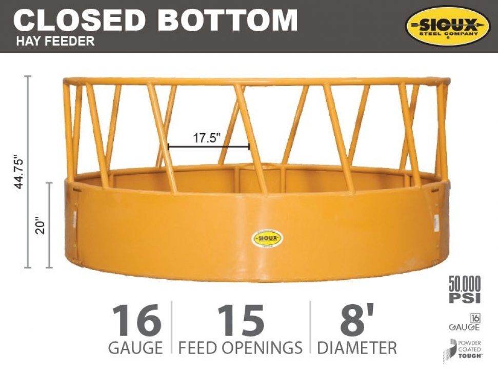 Closed Bottom Hay Feeder Features