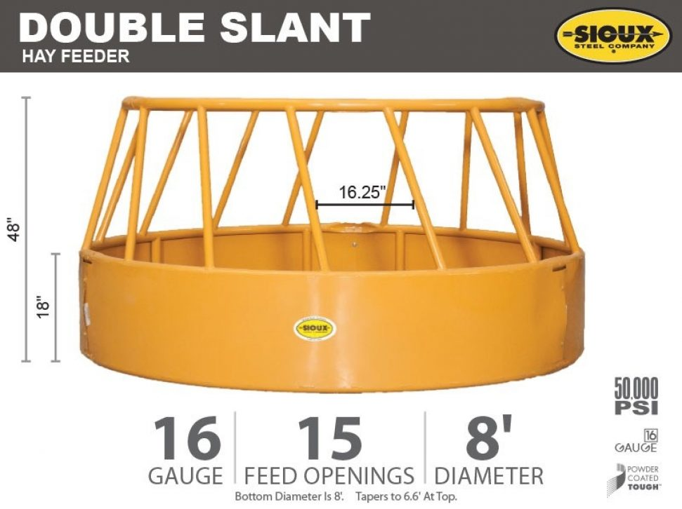 Double Slant Hay Feeder Features