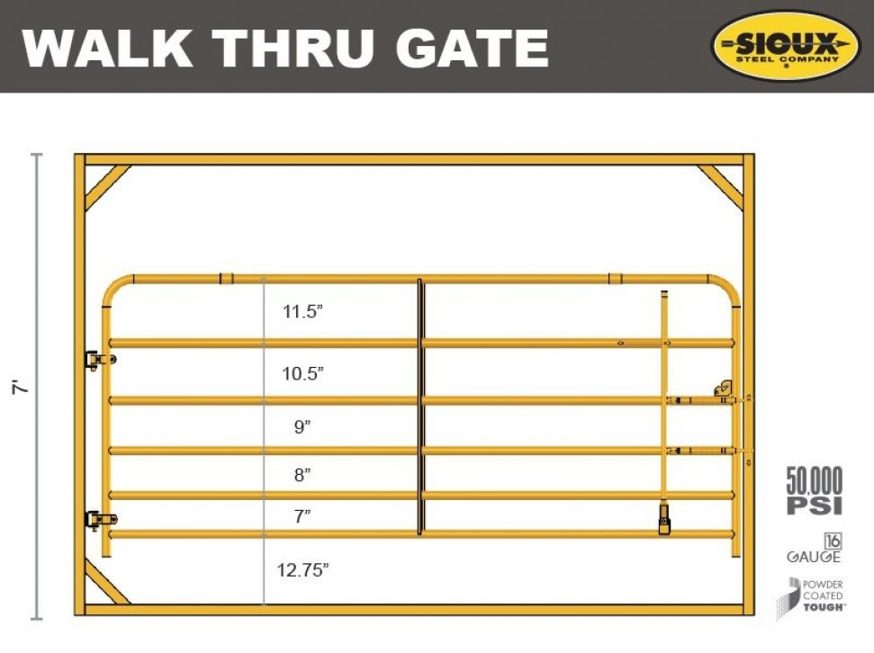 Walk Thru Gate