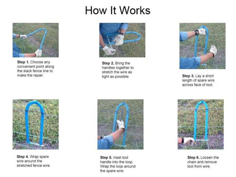 How a fence fixer works