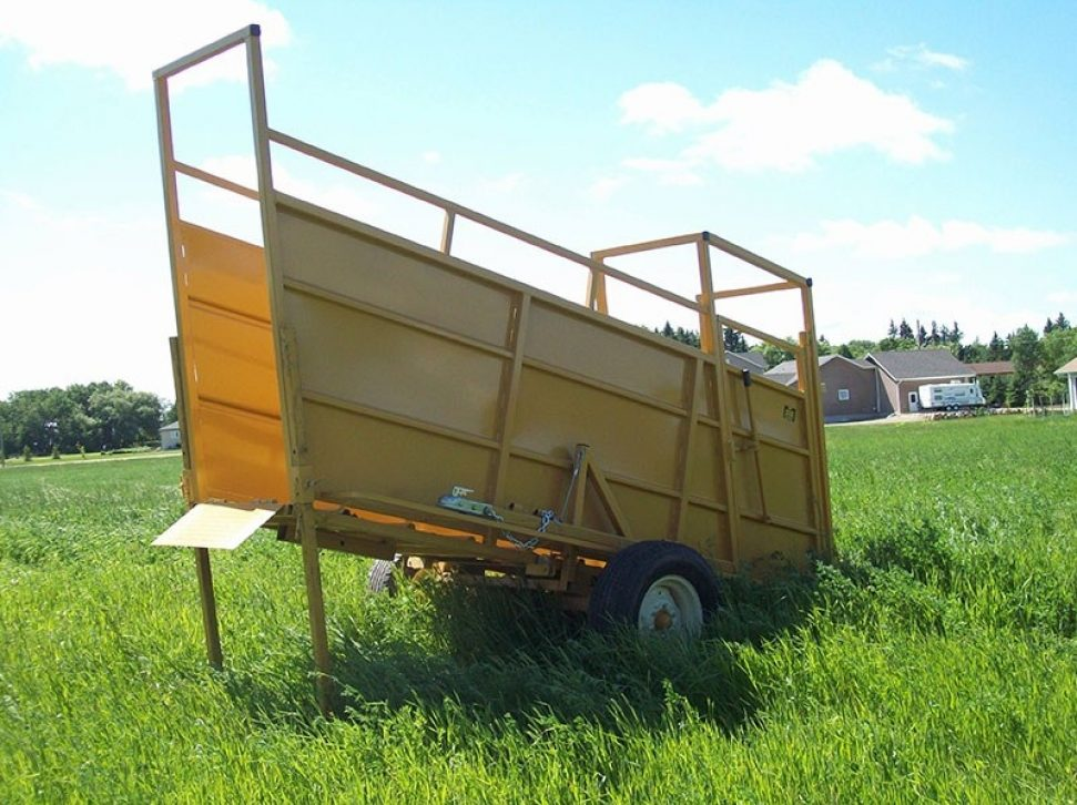 Portable Loading Chute in a field